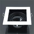 Deep - Alu spot lámpatest (négyzet), billenthető, fehér