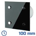 - Design elszívó Modern fekete (100 mm) időkapcsolós