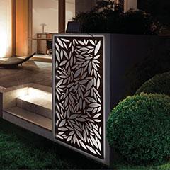 Dekorációs fém panel, leszúrható vagy falra szerelhető (120x60 cm) - napelemes LED világítással!