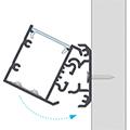Design Dopio és Unico alu profilhoz Talia rögzítősín - dönthető felszereléséhez