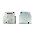 Design Dopio LED profil véglezáró elem - alumínium, zárt