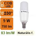 LED lámpa E14 (9Watt/300°) T37 rúd - természetes fehér