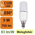 LED lámpa E14 (9Watt/300°) T37 rúd - meleg fehér