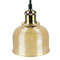 Scots vintage csillár (E27) - borostyán színű ernyő