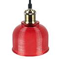 Scots vintage csillár (E27) - piros színű ernyő