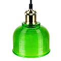 Scots vintage csillár (E27) - zöld színű ernyő