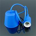 E27-es szilikon függőlámpa, kék