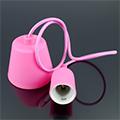 E27-es szilikon függőlámpa, pink