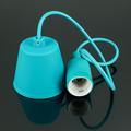 E27-es szilikon függőlámpa (minimal lámpatest) - türkiz