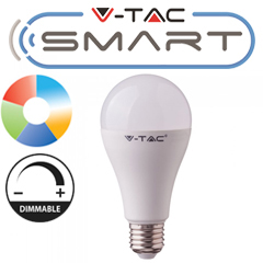 E27 SMART LED lámpa (15W/200°) Körte A65 - RGB+CCT FullColor - fényerőszabályozható