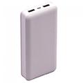 PowerBank külső akkumulátor nagy kapacitású XL (2xUSB) fehér -20000 mAh