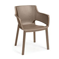 Elisa chair műanyag kartámaszos kerti szék - cappuccino
