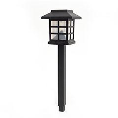 Kerti szolár LED lámpa, négyzet alakú (38 cm) fekete színben