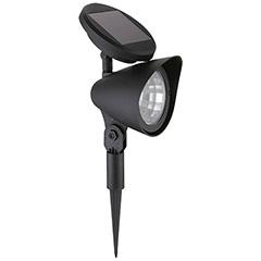Kerti leszúrható, napelemes szolár LED lámpa (32cm) - fekete színű