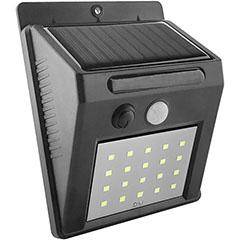 Napelemes oldalfali lámpa (fekete) 2W 6500K