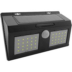 Napelemes oldalfali lámpa (fekete) 4W 6500K