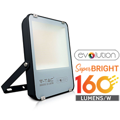 LED reflektor fekete (100W/100°) Hideg fehér