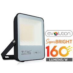 LED reflektor fekete (50W/100°) Hideg fehér