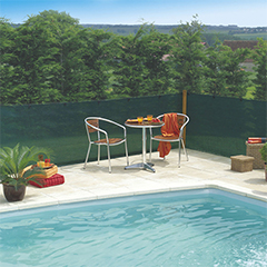 Szőtt árnyékoló háló 80%-os takarás, EXTRANET (1x10 méter) zöld