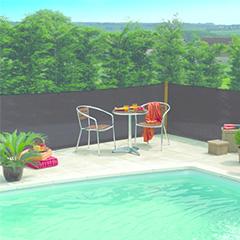 Szőtt árnyékoló háló 80%-os takarás,  EXTRANET (1.5x10 méter) antracit