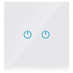 Glass Panel - Fali dupla érintőkapcsoló (5-500 Watt) fehér
