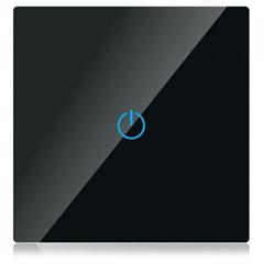 Glass Panel - Fali érintőkapcsoló (5-500 Watt) fekete