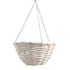 Fonott függő kaspó (100%-ban természetes anyagból) - Fehér (30 L)