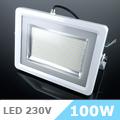 - AKCIÓ: Slim LED reflektor (100 Watt/100°) Fehér, Természetes f