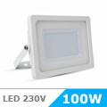 - AKCIÓ: Slim LED reflektor (100 Watt/100°) Fehér ház, Hideg f.