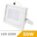 - AKCIÓ: Slim LED reflektor (50 Watt/100°) Fehér, Meleg fényű