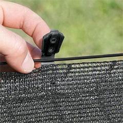 Rögzítő szőtt árnyékoló hálóhoz - FIXATEX kapocs (20 db) szürke