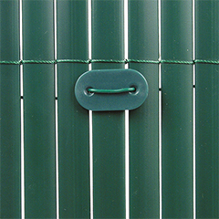 Rögzítő árnyékoló nádakhoz - FIXCANE műanyag lap+huzal (26 db) zöld