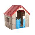 Foldable play house összecsukható műanyag játékház - piros - beige - világos kék