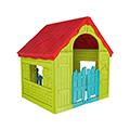 Foldable play house összecsukható műanyag játékház - piros - világos zöld - világoskék