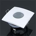 Négyzet alakú spot lámpatest (361), fix, fehér, fürdőszobai