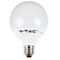 E27 LED lámpa (10W/200°) G95 - hideg fehér Kifutó!