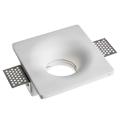 Gipsz spot lámpatest gipszkarton síkba építhető, négyzet (GU10)