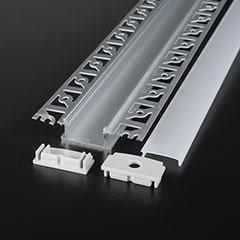 Gipszkartonba süllyeszthető alu profil LED szalaghoz, opál burával (3359)