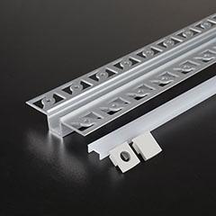 Gipszkartonba süllyeszthető alu profil LED szalaghoz, opál burával (3360)
