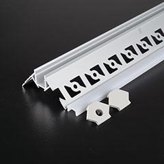 Gipszkartonba süllyeszthető alu profil LED szalaghoz, opál burával (3361)