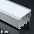 Inso Alu XXL U profil ezüst, LED szalaghoz, gipszkartonba, opál burával