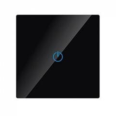 Glass Panel - Fali érintős, váltókapcsoló (5-500 Watt) fekete