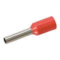 Érvéghüvely 1.0 mm2 vezetékekhez, piros (100db/csomag)