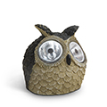Bagoly állatfigura, kerti szolár LED lámpa
