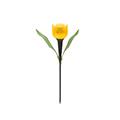 Tulipán, kerti szolár LED lámpa (sárga)
