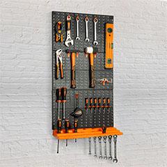 Fali rendszerező, szerszámtartó (500 x 330 mm) narancs-fekete