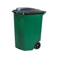 Görgős kültéri szemetes 100L - zöld