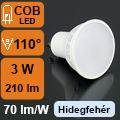 LED lámpa GU10 (3Watt/110°) hideg fehér