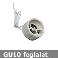 GU10 kerámia foglalat 230V - beépíthető (csak GU10!)