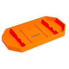 Gumi szerszámos tálca bitfejtartóval (27,5x14,5x2,5cm) narancssárga
